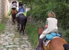 A cavallo sui sentieri dei boscaioli